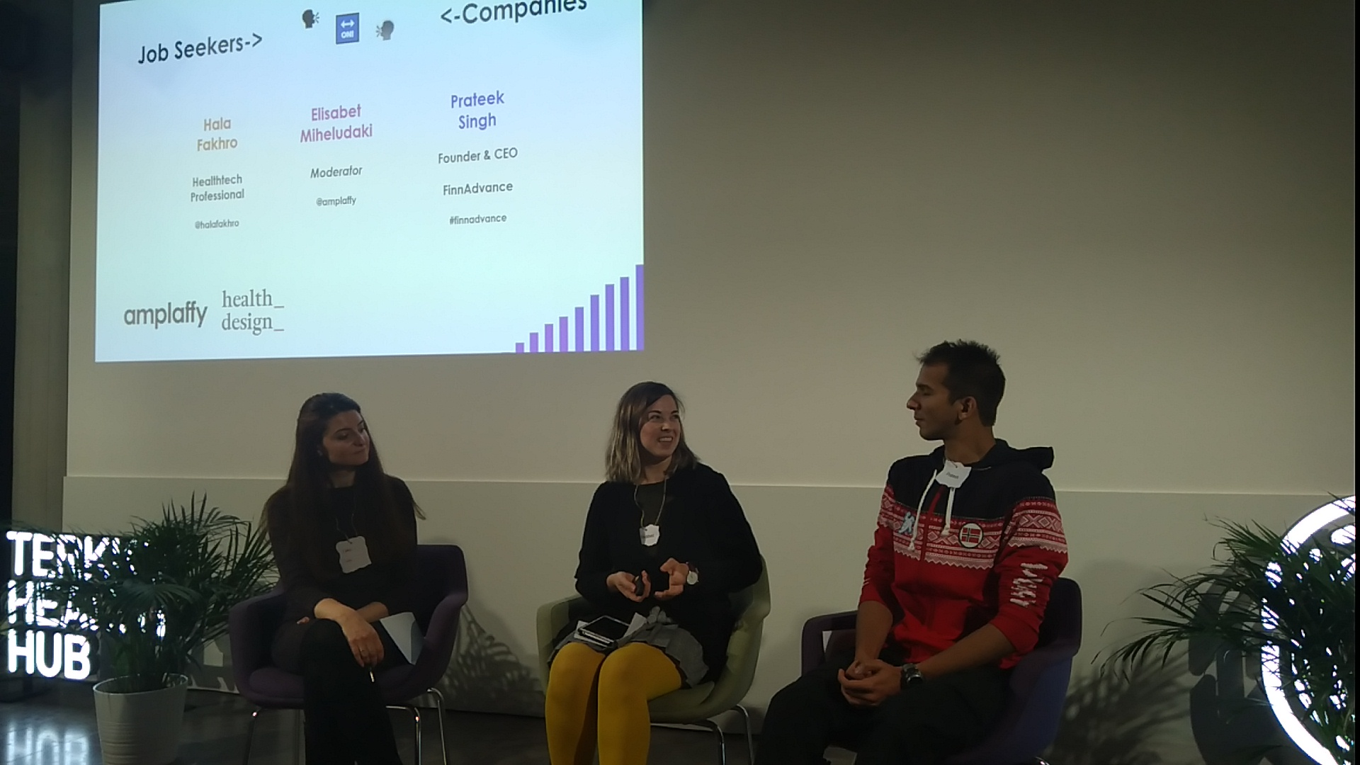 Bridge the Hiring Gap Health edition - discussion between companies and jobseeekers in Fall 2019