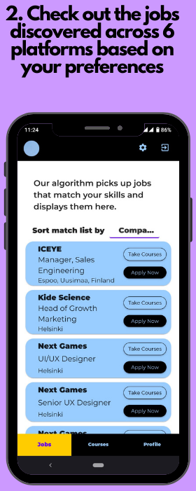 See jobs and learning suggestions