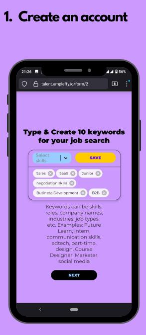 Select your Job Search Keywords